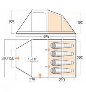 Vango Infinity 400 Dimensions Inflatabletent Org Uk