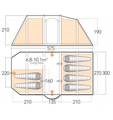 Vango Exodus V600 floorplan