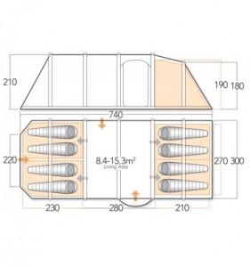 Vango Exodus V 800 floorplan