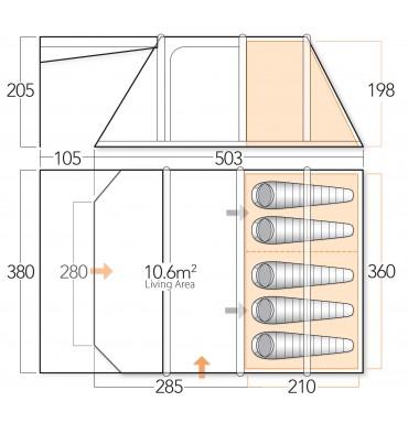 Vango Lumen V 500 floorplan
