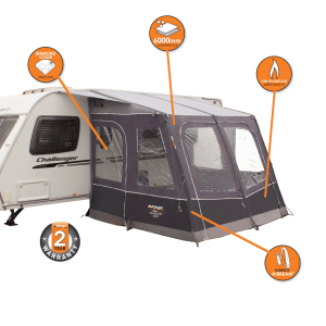 Vango Sanna 280 -  Airbeam inflatable caravan awning