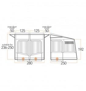 vango-sanna-280-dimensions