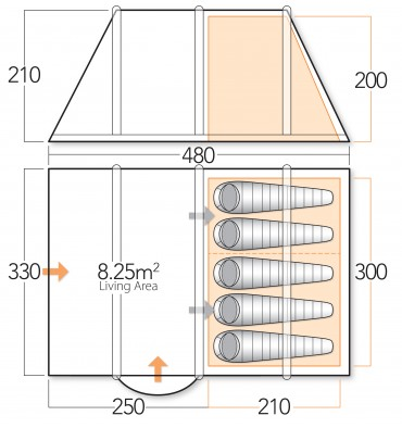 vango-spectrum-500-tent-floorplan
