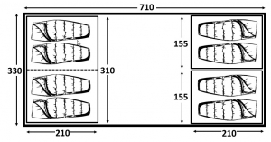 Kampa Southwold 8 floorplan