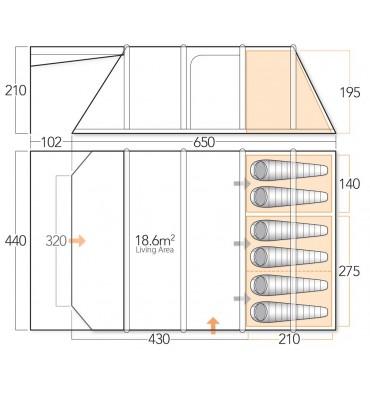 Vango Eden V 600XL floorplan