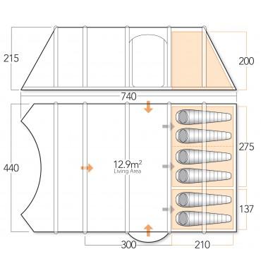 Vango Inspire 600 floorplan