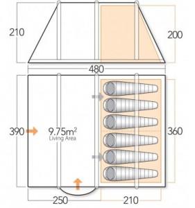 Vango Spectrum 600 floorplan