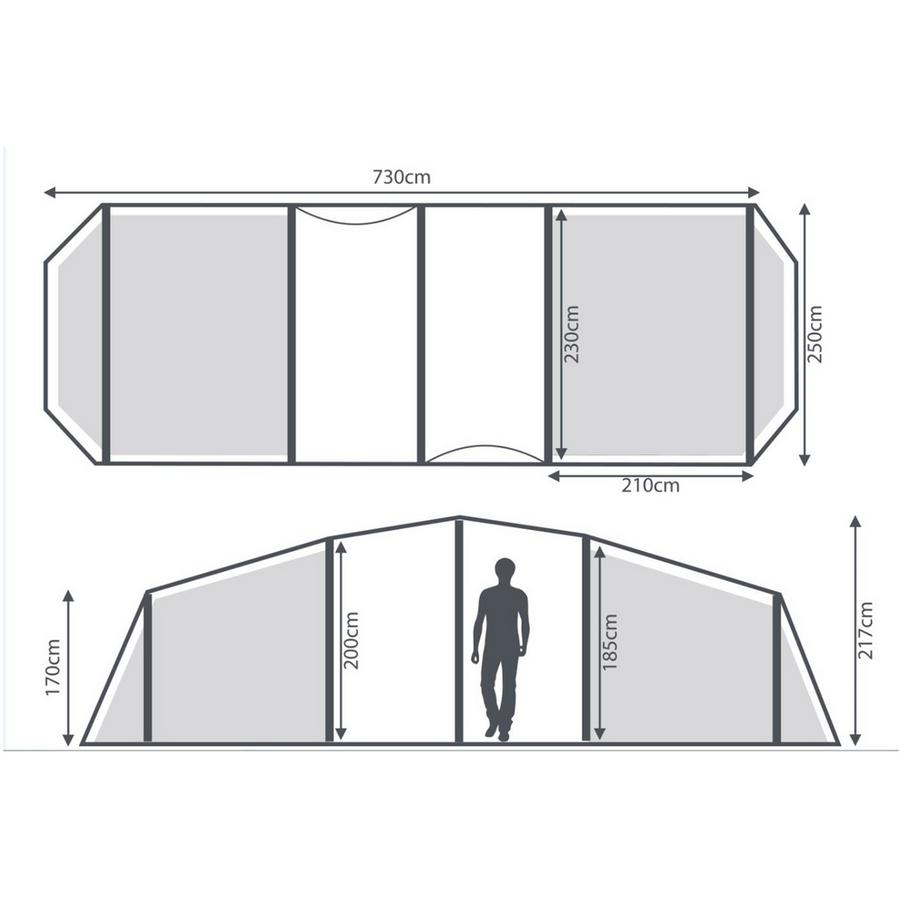 Berghaus Air 6 tent interior dimensions